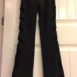 Girls Only Pants - Black Women's Club Party Pants w cut out sides. S.